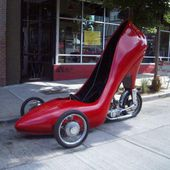 Funny lady's shoe car