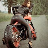 Babe on bike