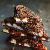 Whiskey, Caramel, Marshmallow & Bacon Bark