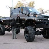 Lifted chevy 4500 on super singles