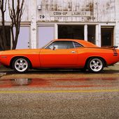 Orange 'Par 1970 Dodge Challenger
