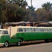 VW Bus Trailer Truck