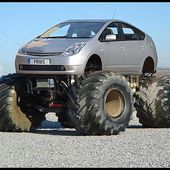 Lifted Prius