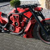 Awesome red bike!