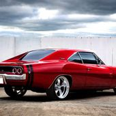 Candy Apple Red Charger