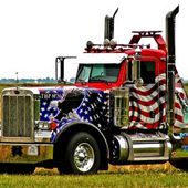 Awesome Looking Patriotic Truck