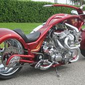 Twin Engine Twin Turbo Custom Motorcycle
