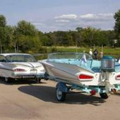 59 Chevy with Matching Boat