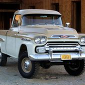 1959 Chevrolet Apache pickup with NAPCO 4×4 conversion;