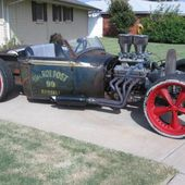Rat Rod Red Rims