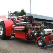 Pulling tractor with Allison V12 aircraft engines.