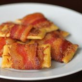 Bacon Wrapped Club Crackers!!