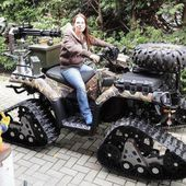 ATV with gun