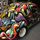 Tricked out VW Beetle
