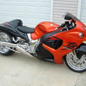 Custom Stretched Suzuki Hayabusa