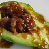 Bacon Stuff Avocado with a Butter Glaze!