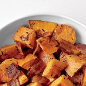 Roasted Sweet Potatoes and Bacon