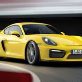 New car of 2016 year. Porsche Cayman GT4