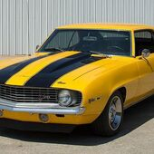 Yellow 1969 Camaro Z28